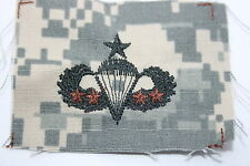 US ARMY ISSUE PAINTBALL 4 X COMBAT SENIOR PARACHUTE WING ACU CLOTH 4 BRONZE STAR