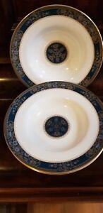 3 royal doulton Carlyle soup bowls
