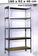Metall-Schwerlast-Regal verzinkt 5 MDF-Böden a 175kg Werkbank Garage 180x92x46