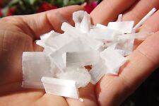 Amazing Pure WHITE Selenite Natural Jewelry / Gridding Crystals POWERFUL 250cts