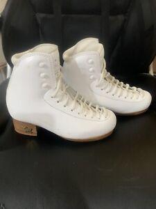 Risport RF 3 Girls 220 B Width  White Skate Boot Only
