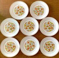 "Lot of 8 Vintage Corelle Indian Summer 8.5"" Salad Luncheon Plates *EUC*"