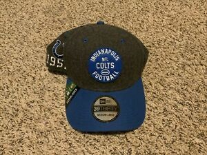 Indianapolis Colts NEW ERA 2019 NFL Sideline Home 39thirty HAT M/L Gray/Blue