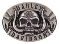 Harley-Davidson Men's The Beast Belt Buckle, Antique Nickle Finish HDMBU11499