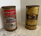 VINTAGE BUDWEISER CANS OPENING INSTRUCTIONAL FLAT TOP