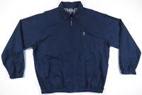 Vintage 90s Chaps Ralph Lauren Blue Plaid Lined Harrington Bomber Mens Jacket L