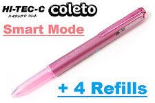 Smart Mode Coleto Pen + 4 Refill PILOT HI-TEC-C Japan Cute Gift 0.3 0.4 0.5 mm
