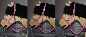 STRASS MINI SHETTY Schmuckhalfter HALFTER + STRICK Minishetty Pony o HOLZPFERD