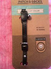 Patch & Socks Leather Cat Collar With Bell Bnwt Free Post (l)