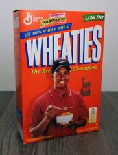 Vintage Wheaties Cereal w/Tiger Woods 18 Oz Full Box Factory Sealed