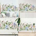 Colorful Floral Plants Flowers Butterfly  Wall Sticker Art Decal Home Decoration