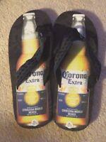 Men's Official CORONA EXTRA BEER Bottle Logo Flip Flops Sandals Thongs