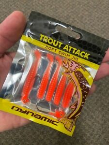 Dynamic Lures Trout Attack Swim-Jig (Orange)
