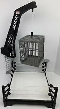 WWE Wrestling Action Figure Ring With Crane & Steel Cage Toy Play Set Jail Cell