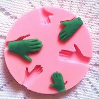 1 main humaine fondant gâteau de décoration de silicone moule fim.FR