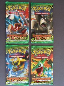 Pokemon TCG - 4 x Sealed Dragons Exalted Booster Packs - All Four Artworks