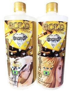 NEW - CIRUGIA CAPILAR Gold Diamond Gold Shine 2 step 1 Lt / Free Shipping