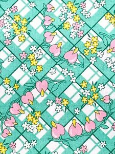 Green Floral Kaufman 1930s Fabric Cotton Darlene Zimmerman Clothesline Print