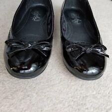 Black Real Black Soft Comfy Patent Leather Ballerina Flats Soleflex Size UK 3
