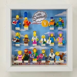 Display Case Frame for Lego Simpsons Series 2 minifigures 71009 no figures