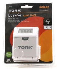 Tork Sa130 Easy To Set Digital Lamp Timer With Extra Untimed Outlet