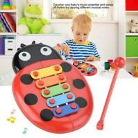 5-Note Xylophone Musical Toy Beetle Design Kids Child Early Education Toy I3X4