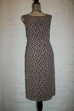 JACQUES VERT Brown Ivory Polka Dot Womens Summer Party Dress size 16 18