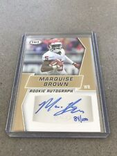 2019 Sage Hit Rookie Autograph Marquise Brown Gold #ed 84/100 Oklahoma No. A68