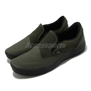 Vans Mod Slip-On Green Black Men Classic Casual Lifestyle Shoes VN0A4TZZ1WN