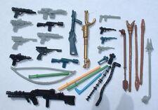 NICE 28+ Weapons LOT for Vintage Star Wars Figures Sandpeople,Luke,Jawa,Paploo