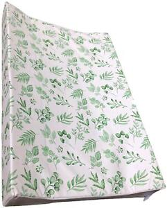 Gilded Bird WEDGE BABY CHANGING MAT - LOVELY LEAVES GREEN Nursery BNIP
