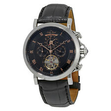 Lucien Piccard Acropolis Black Dial Automatic Mens Watch LP-40021A-01-RA-W