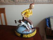 "Tintin and Snowy Studio Adventures 12"" (30cm) high - 1960s? - Rare"