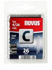 NOVUS Klammer C Typ 4/26mm V2A- Edelstahl 1100 Stk. 042-0460, 4009729003329