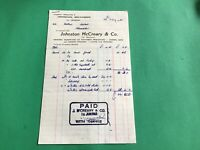Johnston McCreary & Co Grocers Hardware Donegal 1965  receipt R37357
