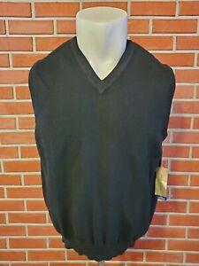 John W Nordstrom Sleeveless V-Neck 2-Ply Cashmere Sweater Vest Mens Large New