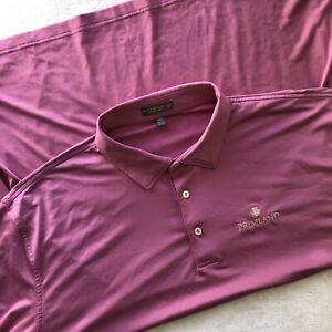 Peter Millar Summer Comfort Men's 2XL Pink Purple Short Sleeve Golf Polo