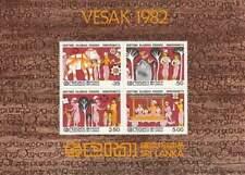 Sri Lanka postfris 1982 MNH block 19 - Vesak (XB1074)
