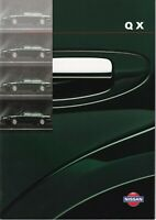 Nissan QX UK Market Brochure 1998-1999 Includes 2.0 S/SE/SEL & 3.0 SEL 40 Pages