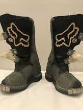 Fox Riding Boots Youth Size 1 Black/white/grey :Forma