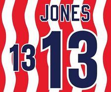 Jones # 13 USA Coppa del Mondo 1994 HOME CALCIO NAMESET per Camicia