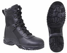 """Men's Black 8"""" Side-Zipper Extreme Weather Insulated Tactical Boots Sizes 5 - 15"""