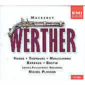 Massenet: Werther Kraus & Troyanos 2 CDs w/ booklet, EMI Classics