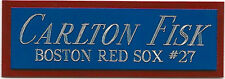 CARLTON FISK NAMEPLATE FOR AUTOGRAPHED SIGNED Baseball Display CUBE CASE