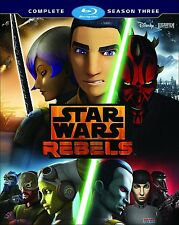 STAR WARS REBELS - SEASON 3  -BLU RAY - Region free