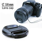 New 58mm Front Lens Cap Hood Snap Cover For Canon Sony Olympus Nikon Fuji Camera