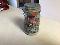 Lot of  Pink Buttons, Mix of Vintage and Hand Painted Jar Included