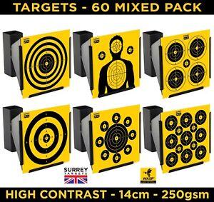 HIGH CONTRAST Air Rifle Pistol Gun BB Airsoft Shooting 14cm Targets 60 Mix Pack