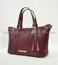 Brahmin Handbag Mini Asher Satchel in Tart Windward Style