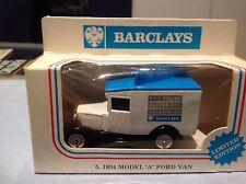 Lledo promocional Die-cast Metal Modelo A Ford Van LP13 Barclays Bank